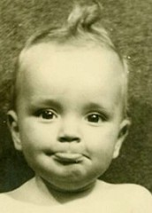 The author as a young child